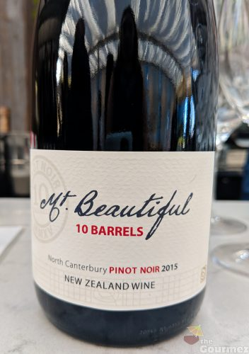 Mt. Beautiful wine, pinot noir, 10 barrels