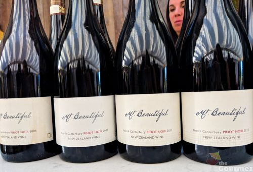 Mt. Beautiful wine, pinot noir, vertical tasting