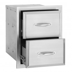 Alturi Stainless Steel Double Drawer