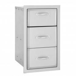 Alturi Stainless Steel Triple Drawer