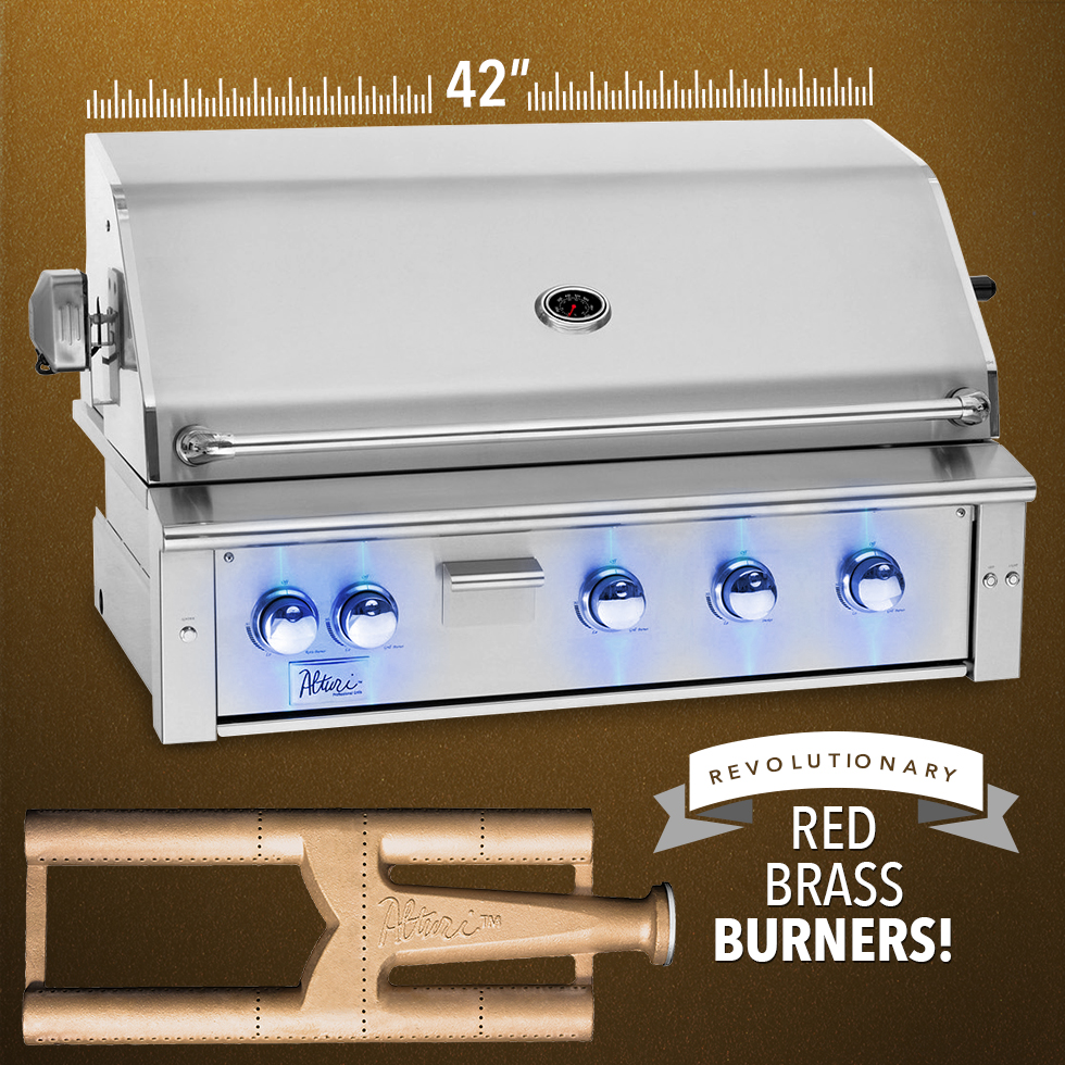 "Summerset Alturi 42"" Built-in Grill w/ Red Brass Burners, ALT42-RB"