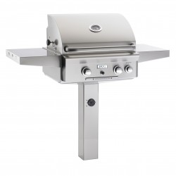 AOG 24 Inch Stainless Steel Gas Grill on In-Ground Post
