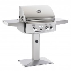AOG 24-in. Stainless Steel Natural Gas Grill on Pedestal Base