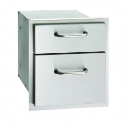 Fire Magic Aurora 14-in. Select Stainless Steel Double Drawer