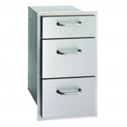 Fire Magic Aurora 14-in. Select Stainless Steel Triple Drawer