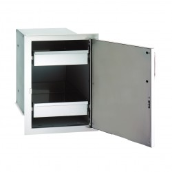 Fire Magic Aurora 14-in. Select Stainless Steel Single Door w/Dual Drawers