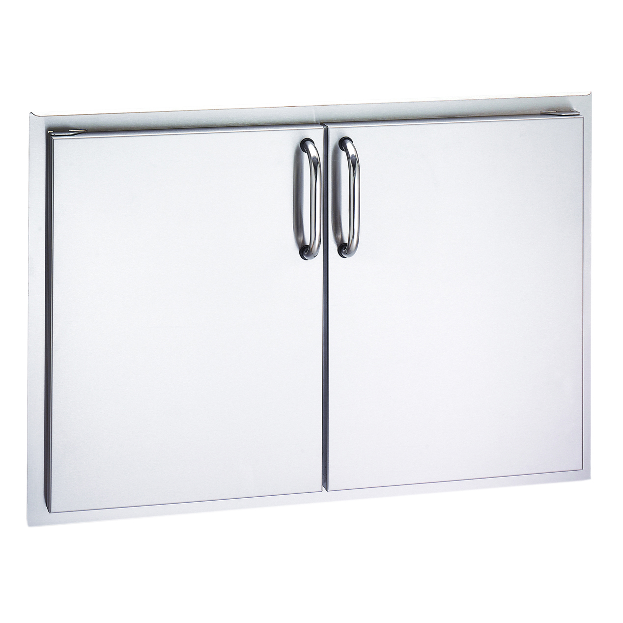 Stainless Access Doors : Fire magic aurora in stainless steel double access