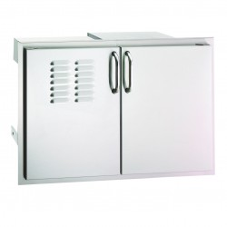 Fire Magic Aurora 30-in. Select Stainless Steel Double Doors w/Tank Tray, Louvers & Dual Drawers
