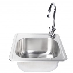 Fire Magic Stainless Steel 15x15 Sink w/Faucet