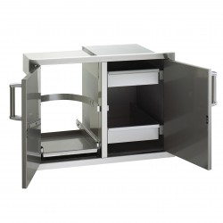 Fire Magic Aurora 30-in. Select Stainless Steel Double Doors w/Trash Tray, Louvers & Dual Drawers