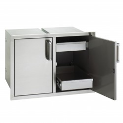Fire Magic Echelon Flush- Mounted 30-in. Enclosed Cabinet Storage w/Dual Drawers