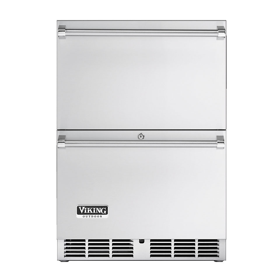 Viking 24 in refrigerated drawers vrdo1240d for Viking outdoor cabinets