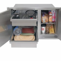 30 Inch Sealed Dry Storage Pantry Open