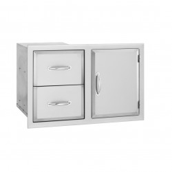 Alturi Luxury Stainless Steel Door & Drawer Combo
