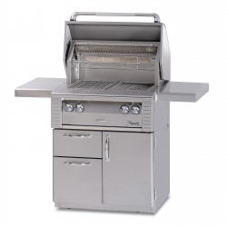 Alfresco 30-in. Standard Gas Grill w/Rotisserie on Deluxe Cart ALX2-30CD