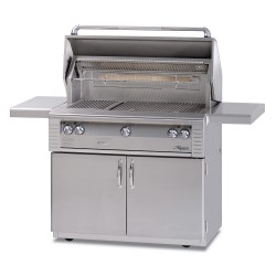 Alfresco 42-in. Standard Gas Grill w/Rotisserie on Cart ALX2-42C
