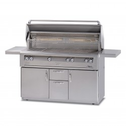 Alfresco 56-in. Gas Standard All Grill w/Sear Zone & Rotisserie on Refrigerated Base ALX2-56BFGR
