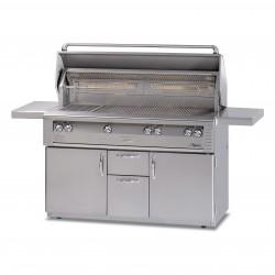 Alfresco 56-in. Gas Standard All Grill w/Sear Zone & Rotisserie on Refrigerated Base ALX2-56BFGR