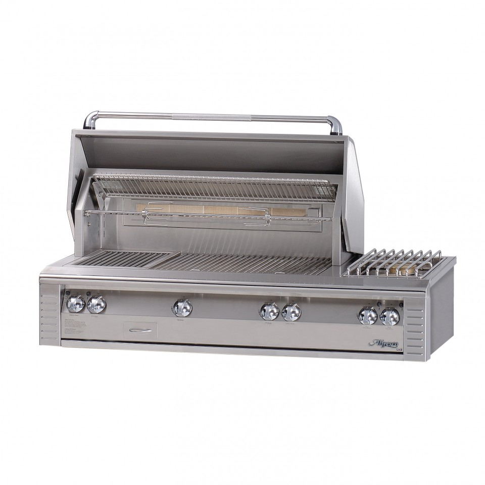 Alfresco 56 in built in gas grill with all burner sear for Viking built in grill