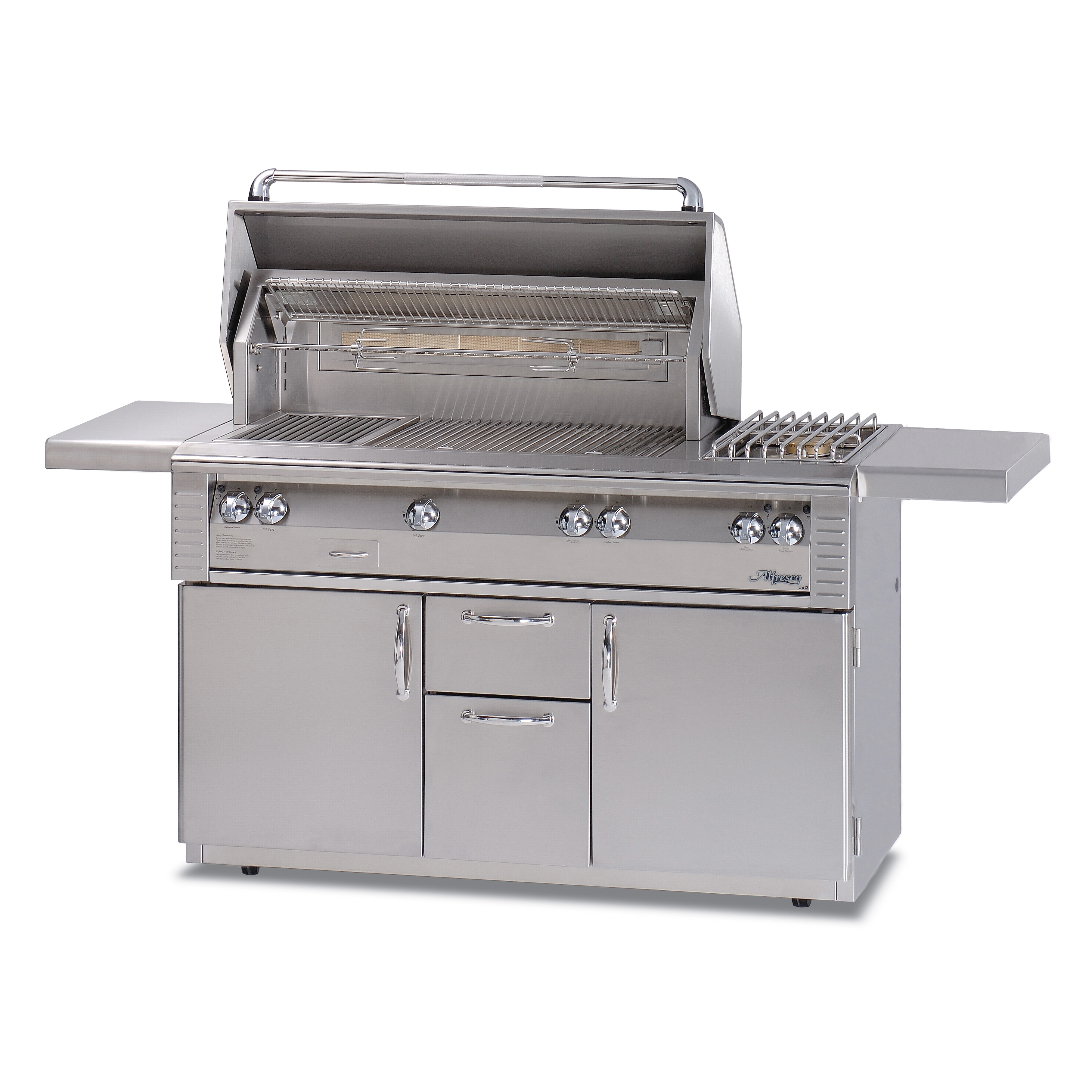 Alfresco 56 Quot Standard Grill W Side Burner On Refrigerated