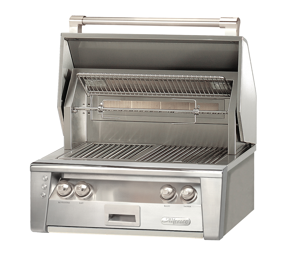 Gas Grill Rotisserie ~ Alfresco in built gas grill with hidden rotisserie