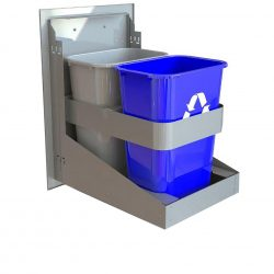"Alfresco 18"" Dual Trash Center & Recycling Drawer, AXE-TC2D"
