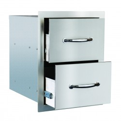 Summerset Stainless Steel Double Drawer