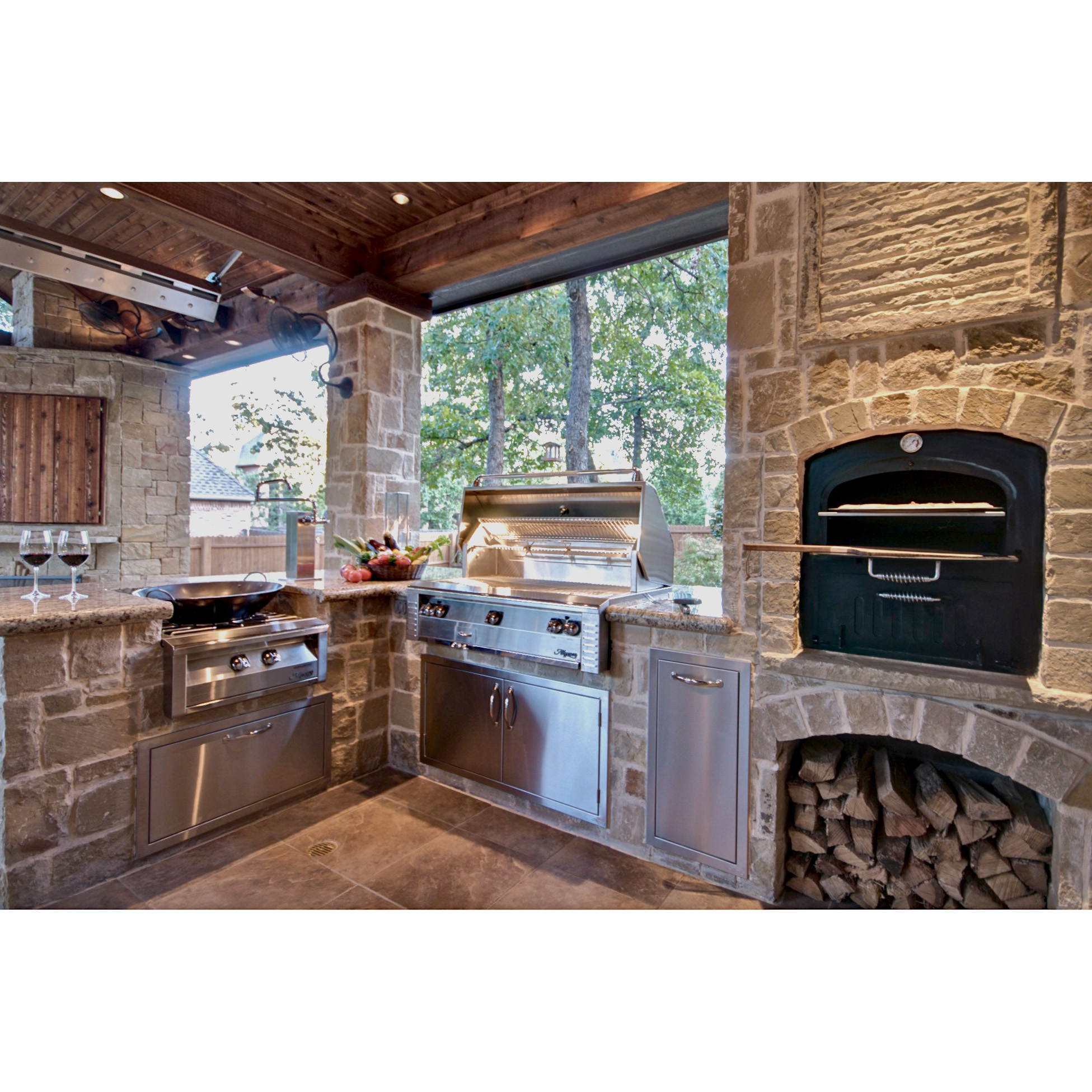Alfresco 42 In Built In Gas Grill With Sear Zone And