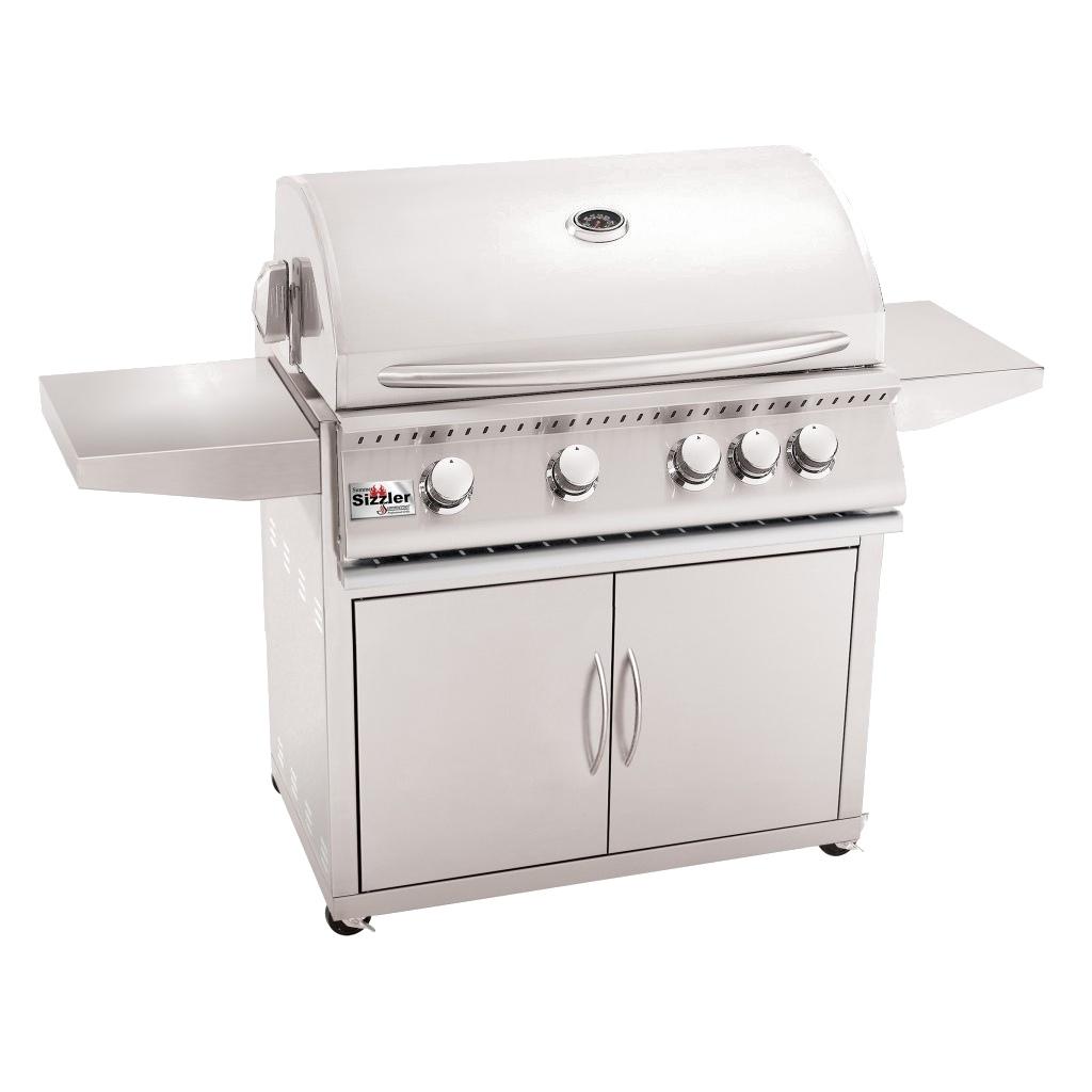 Summerset sizzler ″ freestanding on a cart gas grill