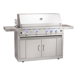 Summerset TRLD 44-in. Stainless Steel Grill w/ Rotisserie, Interior and Exterior Lighting on Cart
