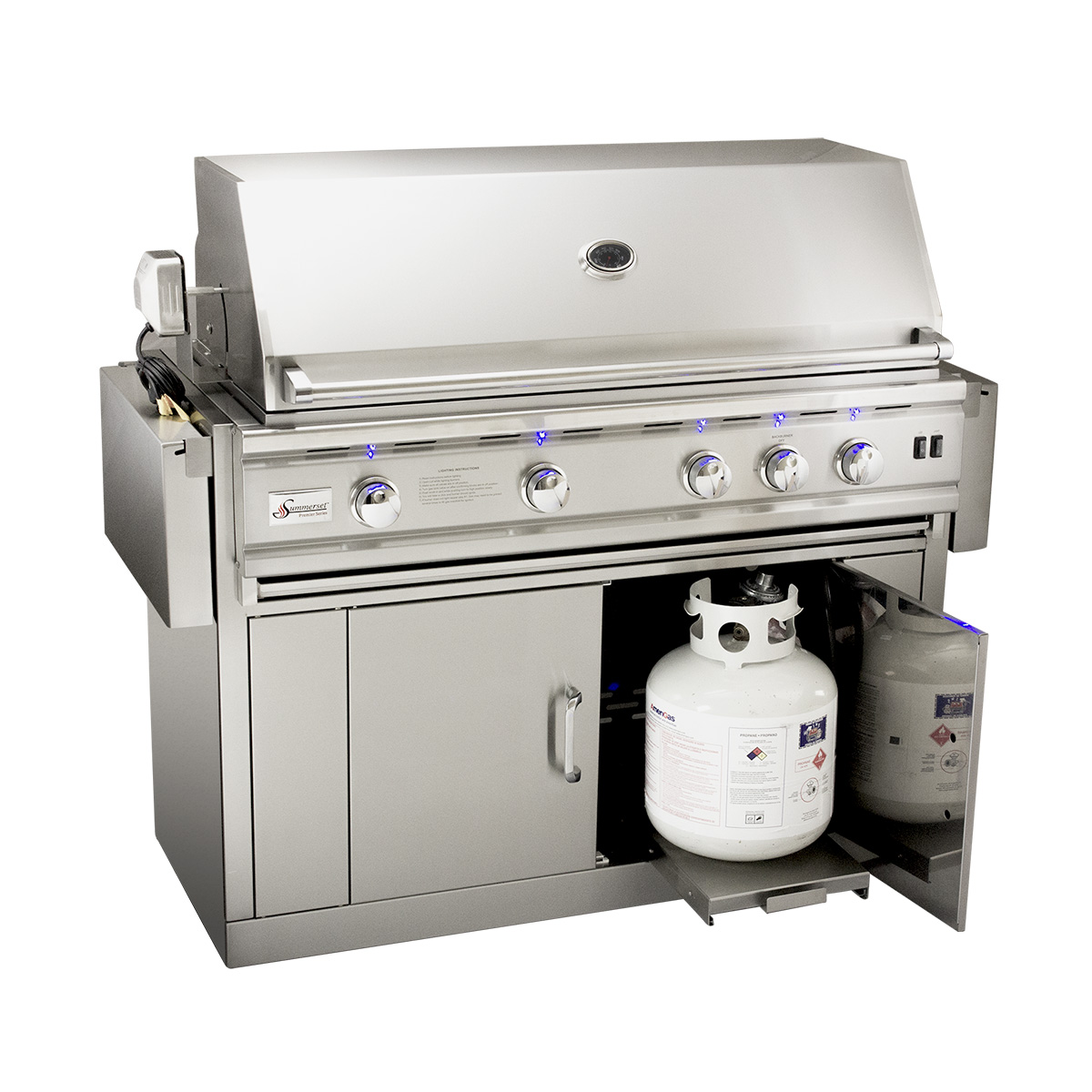 Propane Gas Grills ~ Summerset trld in stainless steel grill w rotisserie