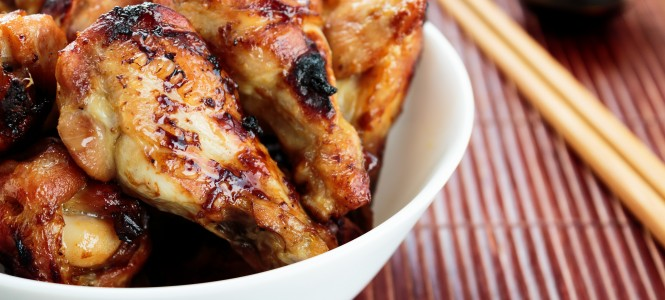 Glazed chicken wings drumstick