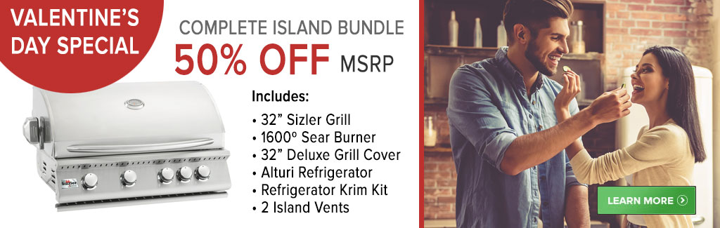 VALENTINE'S DAY SALE 50% OFF - SIZZLER GRILL & ACCESSORIES BUNDLE