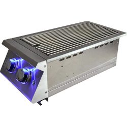 RCS Premier Double Side Burner w/ LED Lights, RJCSSBL