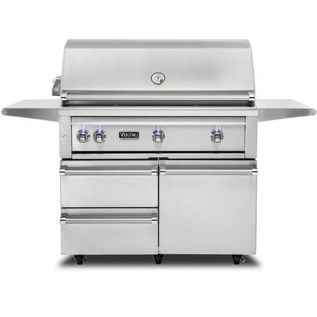 "Viking 42""W. Freestanding Grill with ProSear Burner and Rotisserie, VQGFS5420"