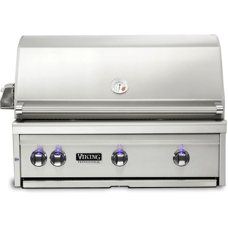 "Viking 36""W. Built-in Grill with ProSear Burner and Rotisserie, VQGI5360"