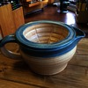 Dirty Bird Shaving Scuttle 1.5 Blue Rim on Spice
