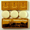 Geo F Trumper Traditional Sandalwood Hand Soap Collection (3 x 75g Tablet)
