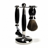 Muhle Black and Nickel 3 Piece Shaving Set