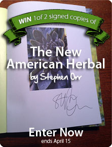 Win a signed copy of The New American Herbal by Stephen Orr