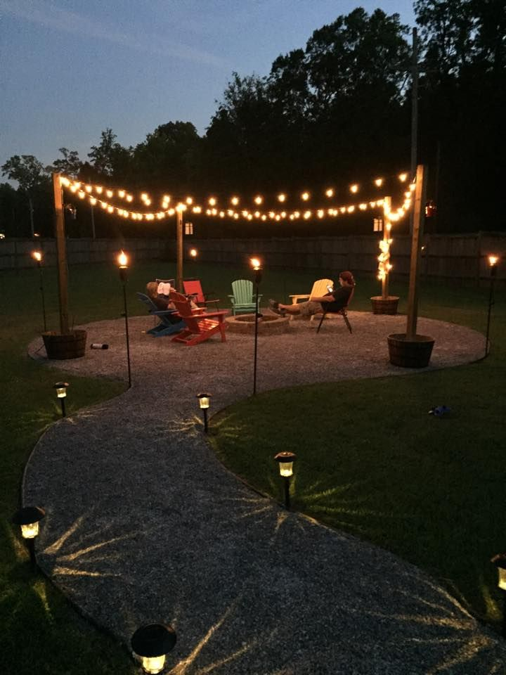 DIY Fire Pit and Seating Area