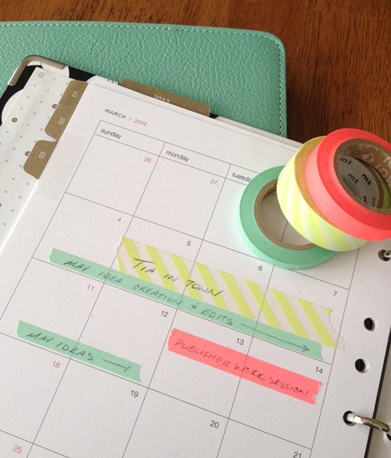 Use Washi Tape on Your Planner