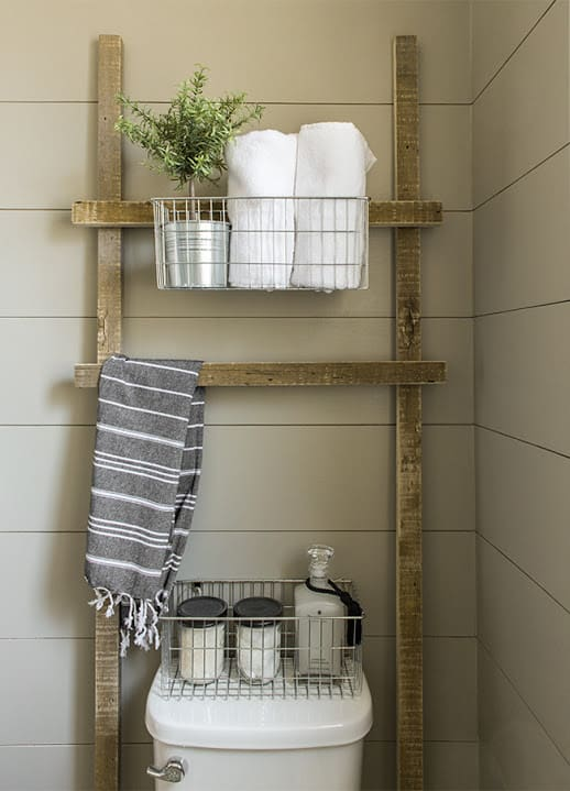 Reclaimed Ladder Shelf