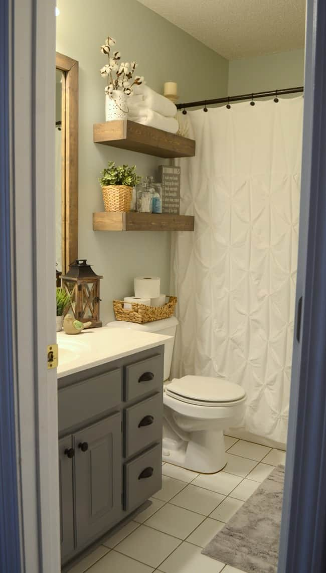 Modern Farmhouse Inspired Bathroom