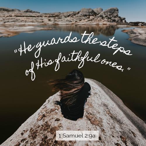 1 Samuel 2:9a