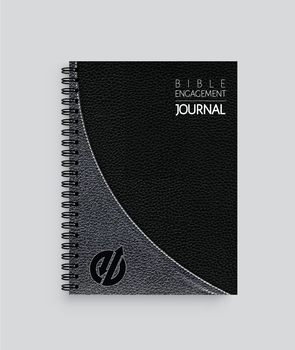 Black and grey handsome spiral Bible journal