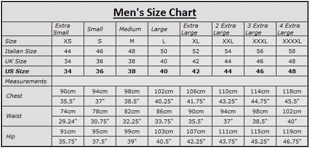 Jacket size chart mens keni ganamas co