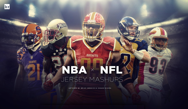 NFL x NBA Jersey Mashups