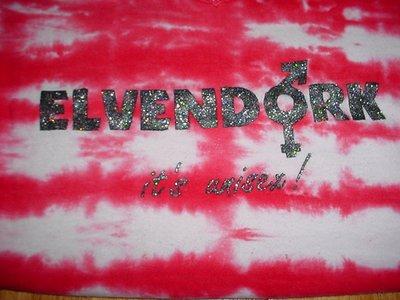 SuperJenn's Elvendork stenciled t-shirt