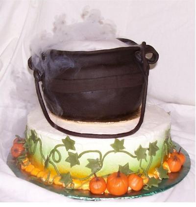 Smoking Cauldron Cake
